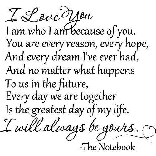 The Notebook You Are Every Reason Hope Dream Ive Ever Had Love Quotes To Your Husband