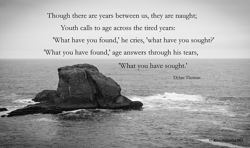 Picture Quote From The Dylan Thomas Poem Youths To Age Though