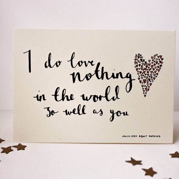 I Do Love Nothing In The World So Well As You Valentine Quotes Shakespeare