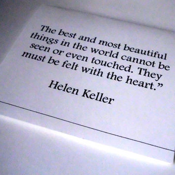 Romantic Valentine Love Card Helen Keller The Best And Most Beautiful Love Quote