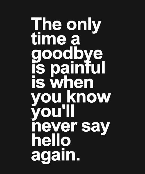 Goodbye Is Painful Love Quote