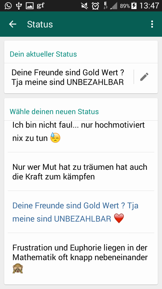 Schone Status Spruche Whatsapp Deutsch