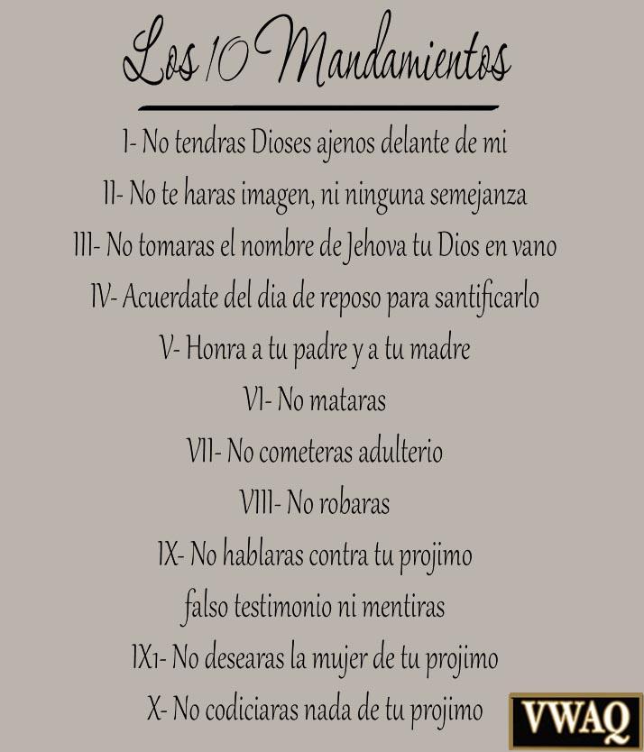 Ten Commandments Wall Art  Commandments Spanish Vinyl Wall Decal Bible Ten Commandments