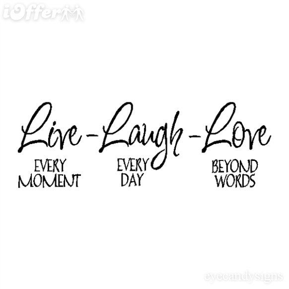 Live Laugh Love Wall Quote Wall Lettering Wall