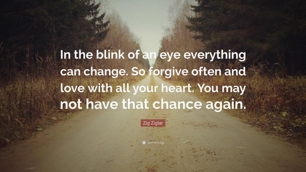 Zig Ziglar Quote In The Blink Of An Eye Everything Can Change So