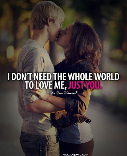 Download Romantic Love Couple Kiss Quotes Wallpaper For Mobile Cell Phone