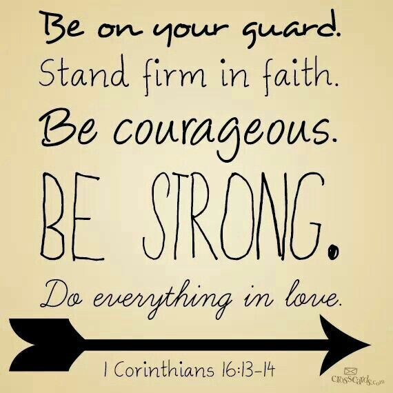 Bible Verse  Corinthians Be Your Guard Stand Firm In Faith Be Courageous Be Strong