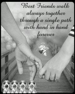 Best Friend Walk Always Together Through A Single Path With Hand To Hand Forever