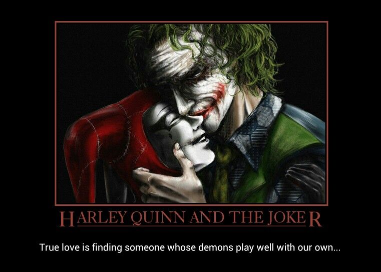 Harley Quinn And Joker True Love Is Finding Someone Whose Demons Play Well With