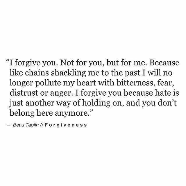 I Forgive You All