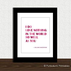 Quotes About Wedding Love Shakespeare Love Quote Typography Art Print Valentines Day Decoration