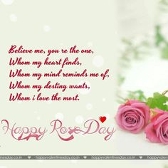 Rose Day Happy Valentine Card