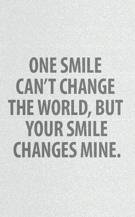 Your Smile Changes Mine Tap To See More Romantic Love Valentine Couple Quotes Mobile Picture Message