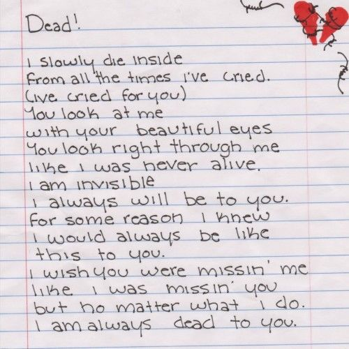 Emo Love Poems For A Girlfriend I Quotes Orb