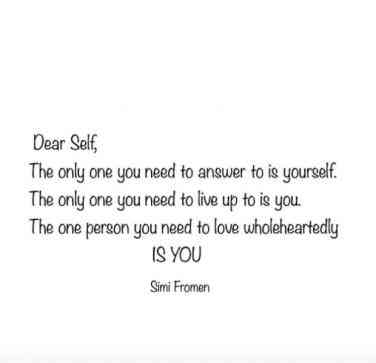 Quotes Simi Fromen Happiness Loving Yourself