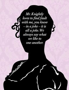 Items Similar To Jane Austen Emma Print It Is A Joke Jane Austen Quote Emma Quote Mr Knightly Quote Jane Austen Art On Etsy