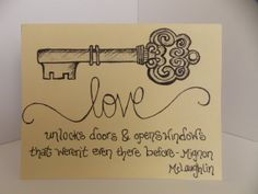 I Love You Love Quote And Antique Key By Happydoodlesbykatie