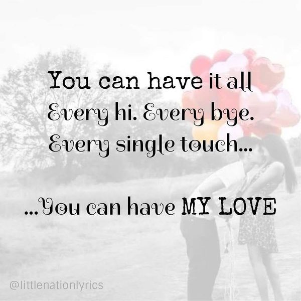 You Can Have My Love