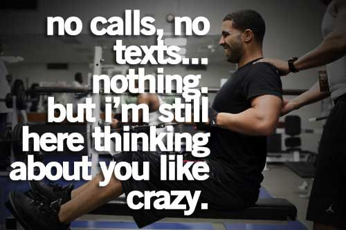 Nos No Texts But I M Still Here Thinking About You Like Crazy E D A