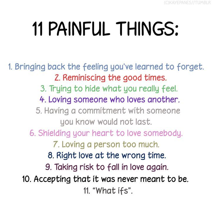Painful Things About Relationships