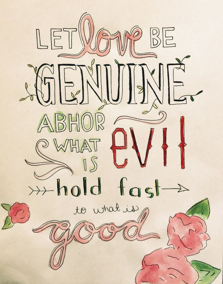 Romans  Love Genuine Good  C B Scripture