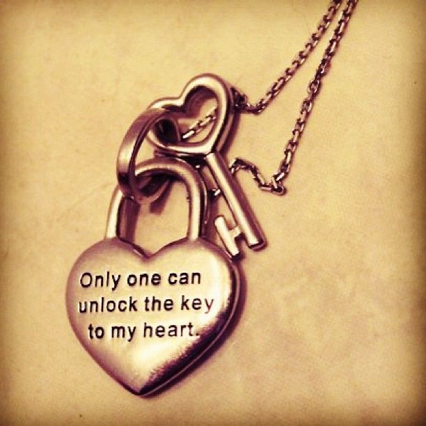 Only One Can Unlock The Key To My Heart Want The Necklace And Give The Key To Him On A Keychain