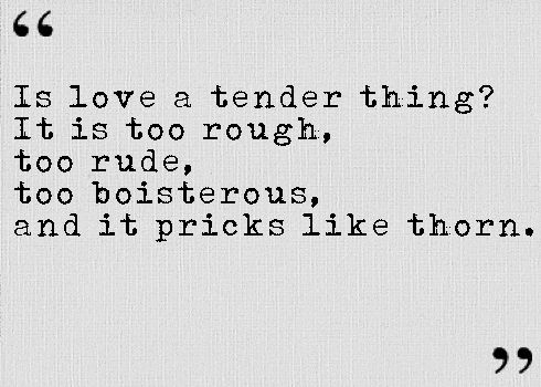From Romeo And Juliet Act I Scene Iv Is Love A Tender Thing
