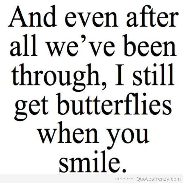 Love Cute Sweet Butterflies Smile Boyfriend Girlfriend Crush Quotes