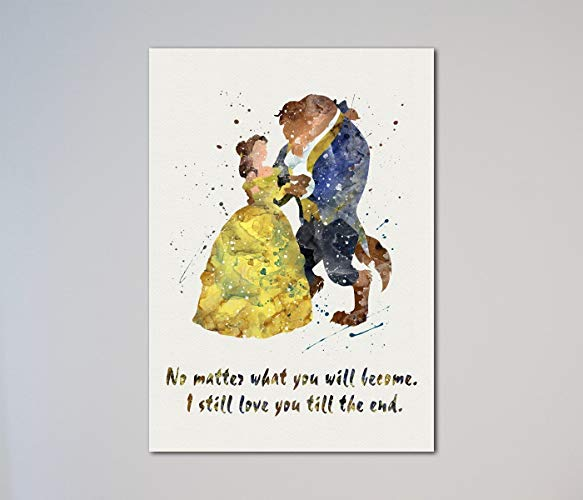 Beauty And The Beast Quote Belle Love Print