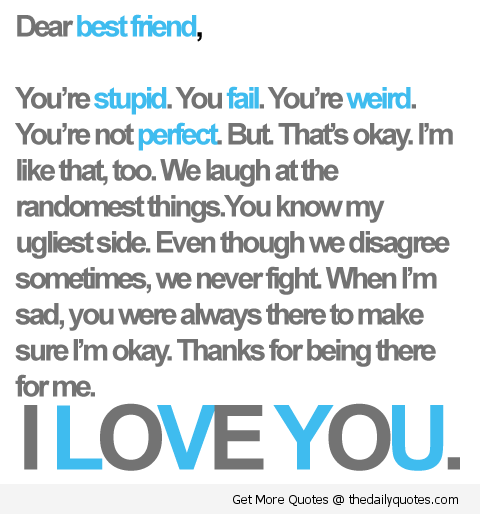 I Love You Best Friend Friendship Quotes Sayings Pics Png
