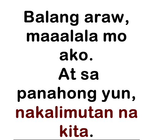 Love Quotes For E Friend Tagalog