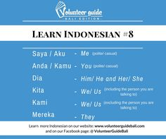Free Bahasa Indonesia Lesson Personalouns Find Over  Indonesian Languages That