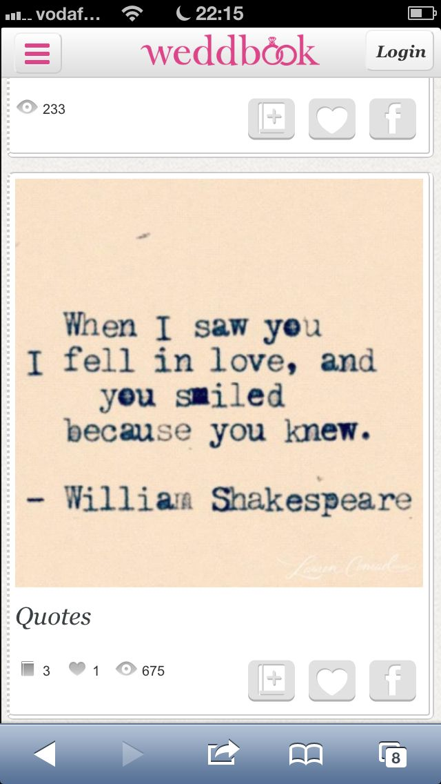 Shakespeare Wedding Quote