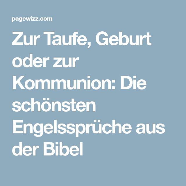 Zur Taufe Geburt Oder Zur Kommunion Schonsten Engelsspruche Aus Der Bibel