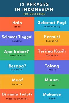 Learn These  Easy Phrases In Bahasa Indonesian