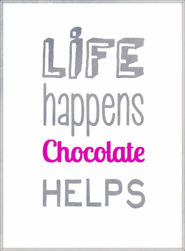 Quote Life Happens Chocolate Helps Wonderful Wednesday Words