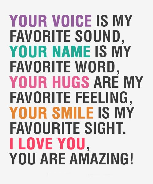 Your Voice Is My Favorite Sound Love Quotes