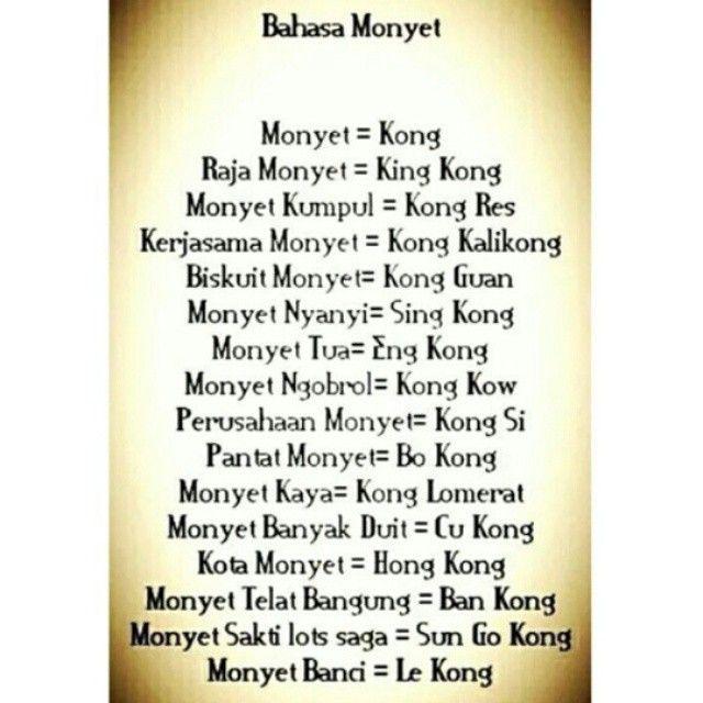Bahasa Monyet