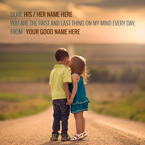 Baby Love Couple Kissing Quotes Name Picture For His Or Her