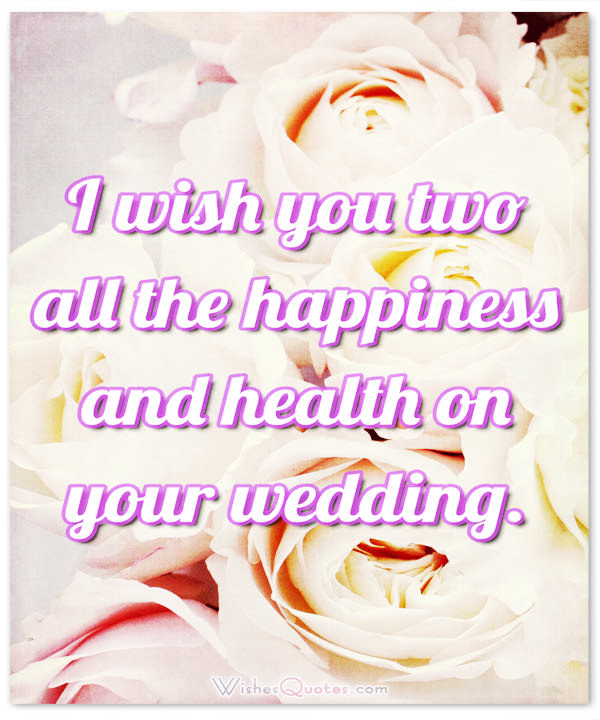 Card With Adorable Wedding Wishes