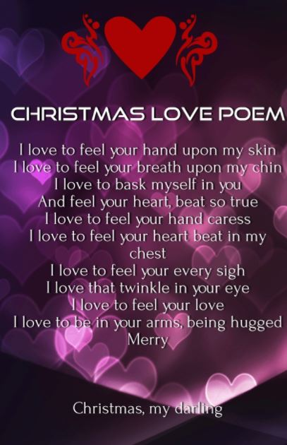 Christmas Love Poem For Him And Her Merry Christmas My Darling