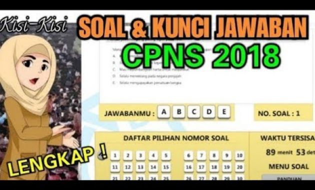 Contoh Soal Cpns Full Soal Hots Tes Wawasan Kebangsaan Twk