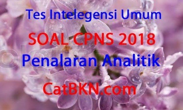 Contoh Soal CPNS 2018: Soal TIU CPNS Penalaran Analitik ...