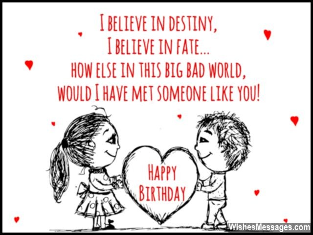 Cute Birthday Wishes Card For Her Quote Heart