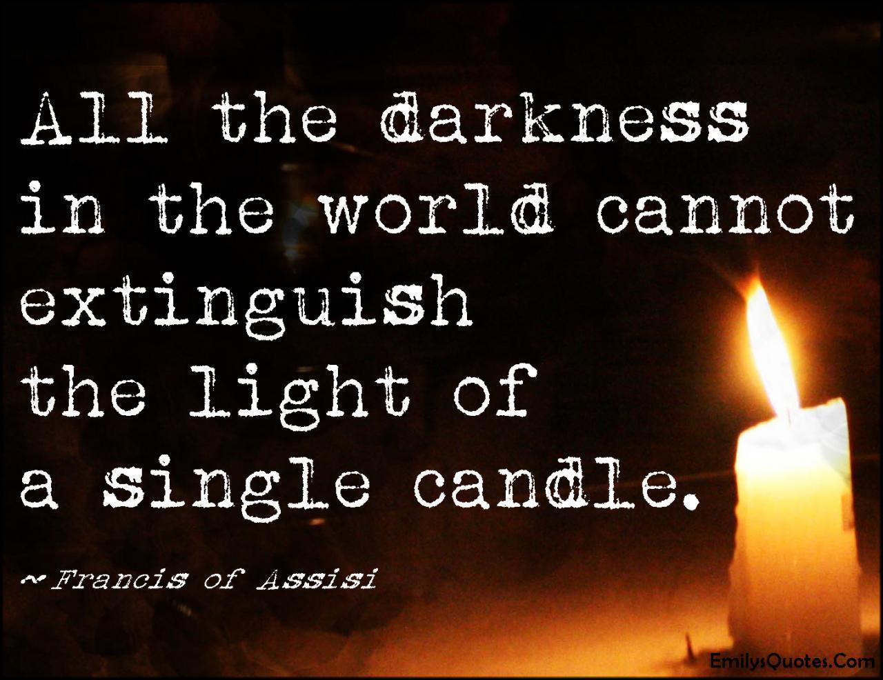 Com Darkness World Extinguish Light Single Candle Amazing
