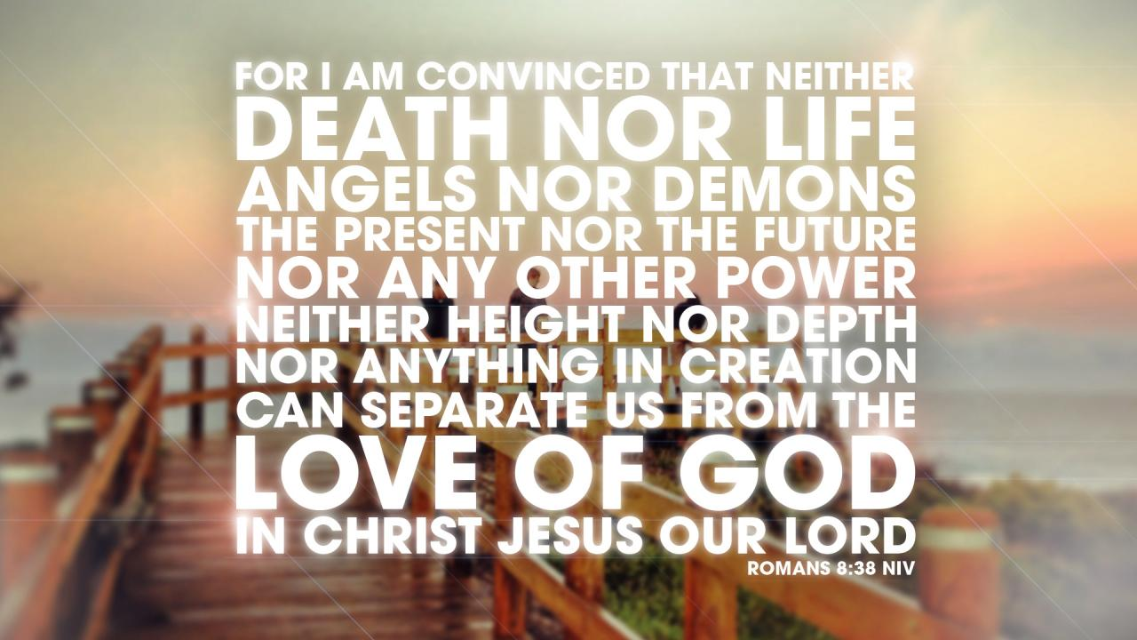 Free Nothing Can Separate Us Romans  Bible Verse Slide