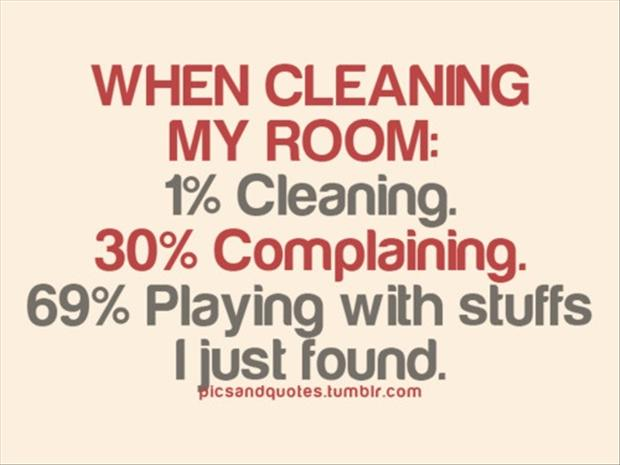 Funny True When Cleaning My Room Image