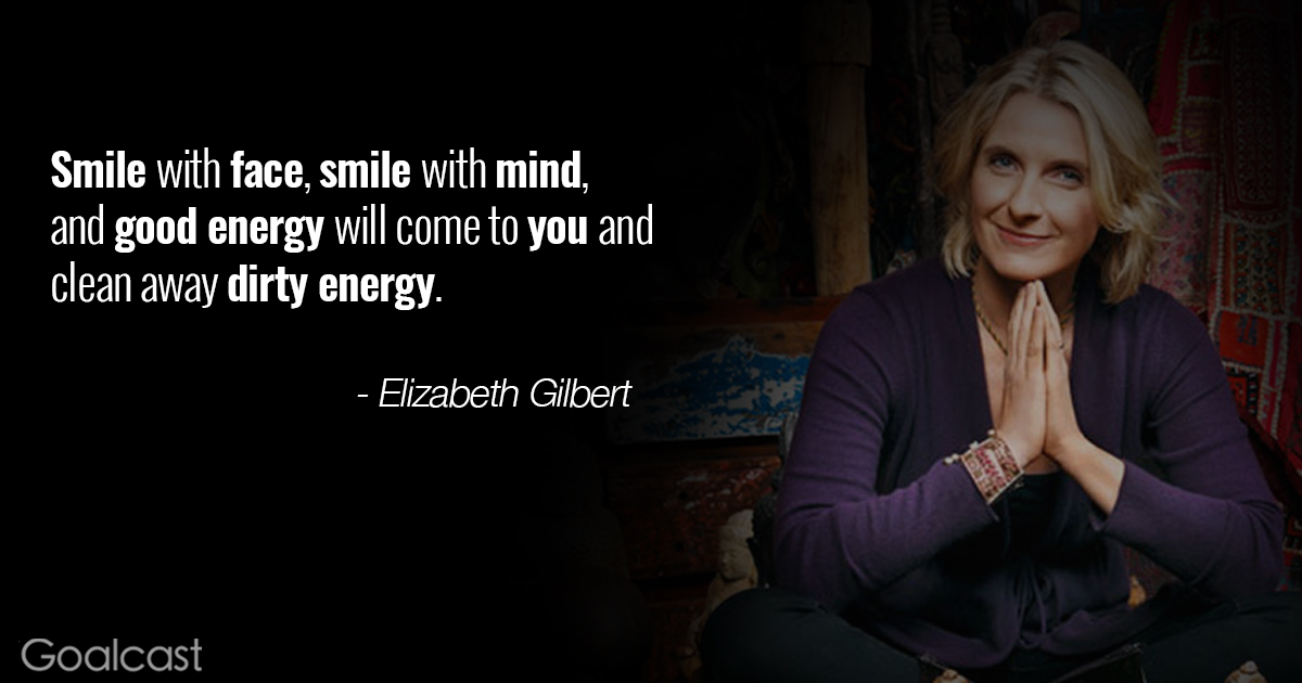 Eat Pray Love Quote About Smiling And Good