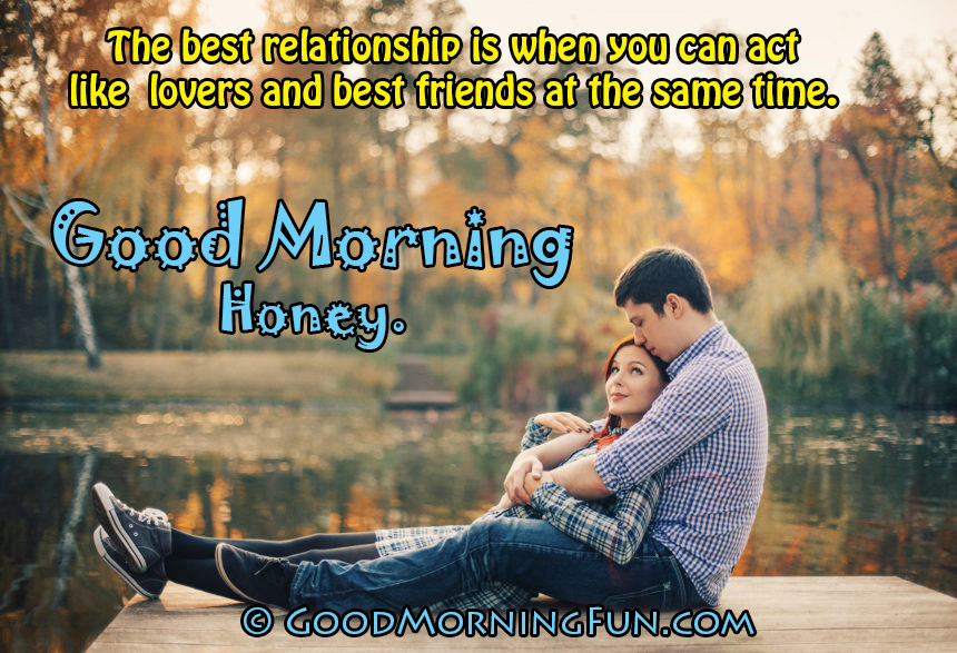 Good Morning Love Quote With Hd Love Couple Wallpaper
