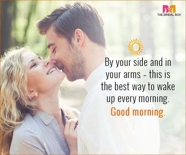 Good Morning Love Quotes For Husband By Your Side